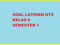 Soal UTS/ Mid PKN Kelas 6 Semester 1/ Ganjil