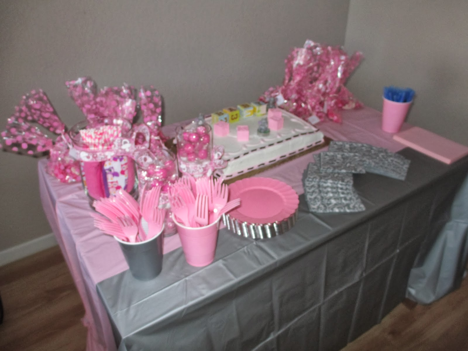 high waisted ambitions pink grey elephant baby shower