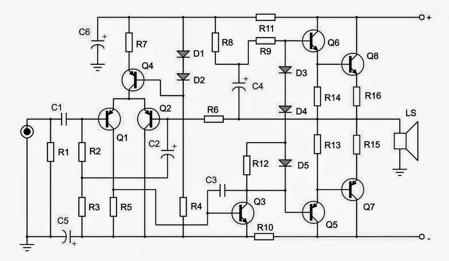 dimmazwahyu scratch  rangkaian amplifier ocl 150w modif by