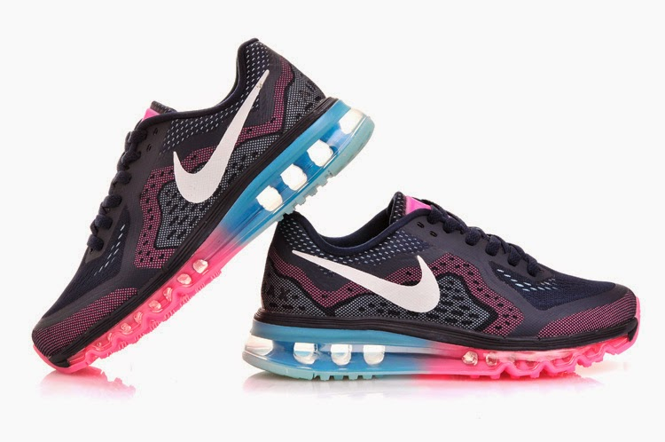 New Style Nike Air Max 2013 Women All Blue Running Shoes