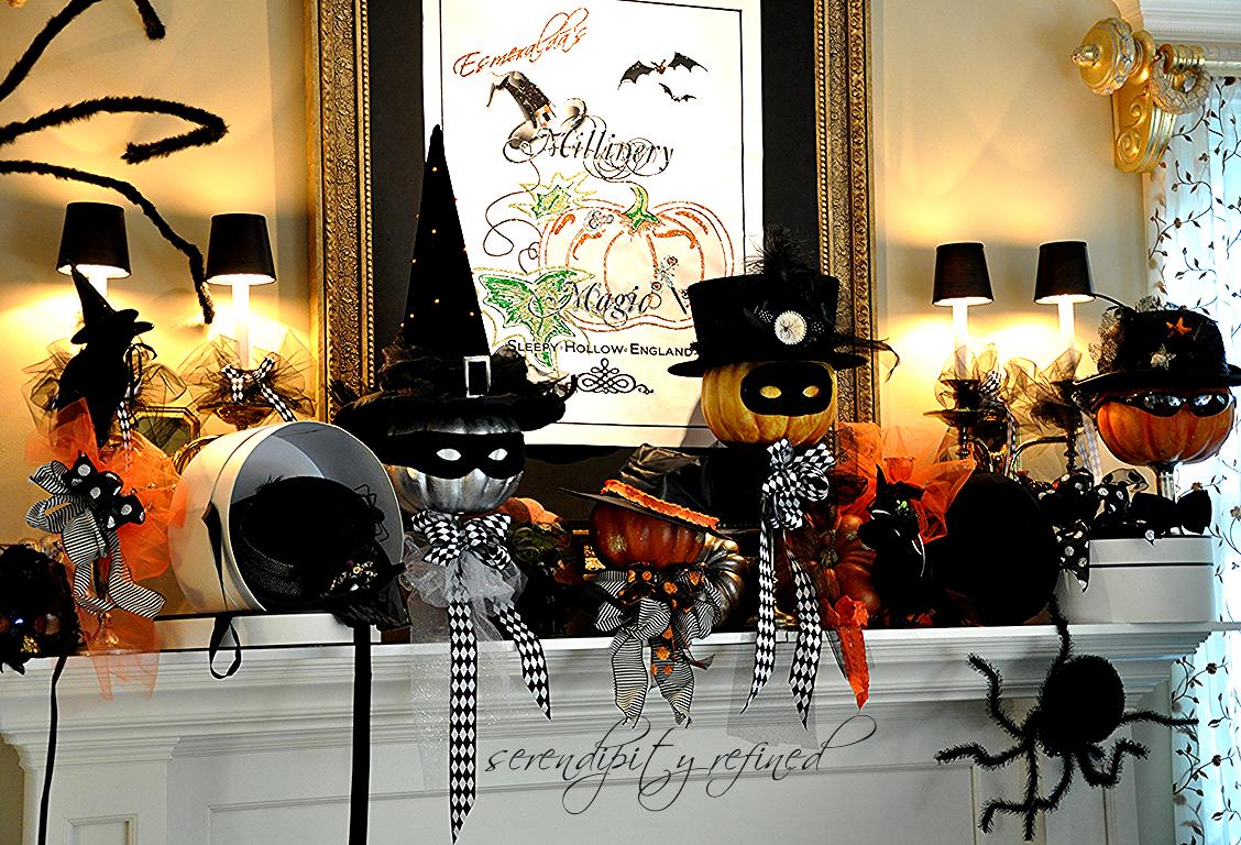 Serendipity Refined Blog Halloween Mantel Do You