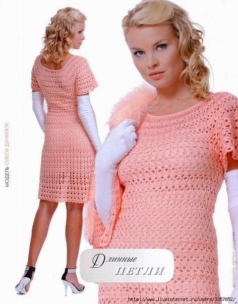 платья вязаные крючком, платья крючком, платья вязаные. Платья вязаные крючком узором из длинных петель с