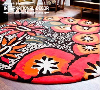 printed carpet patterns, patterned carpets and rugs, round carpets