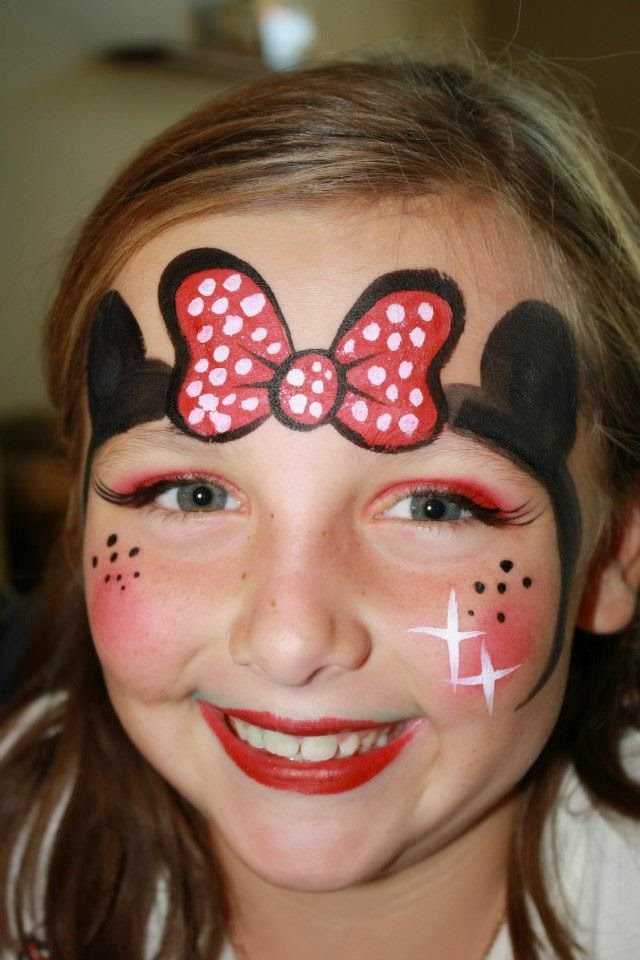 Kids Parties - Imagine Parteas: Minnie Mouse face painting