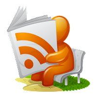 RSS feed reader icon (via iconspedia.com)