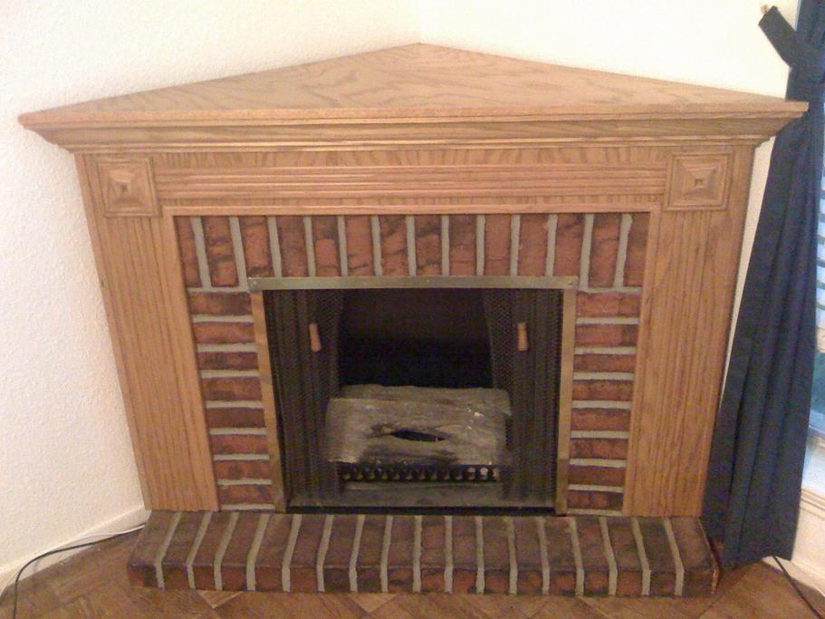 fireplace with brick surround - photo #3