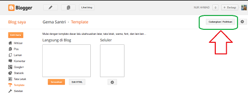 Cara Upload Dan Backup Tamplate Blogspot