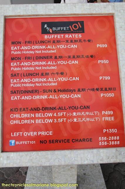 buffet 101 manila