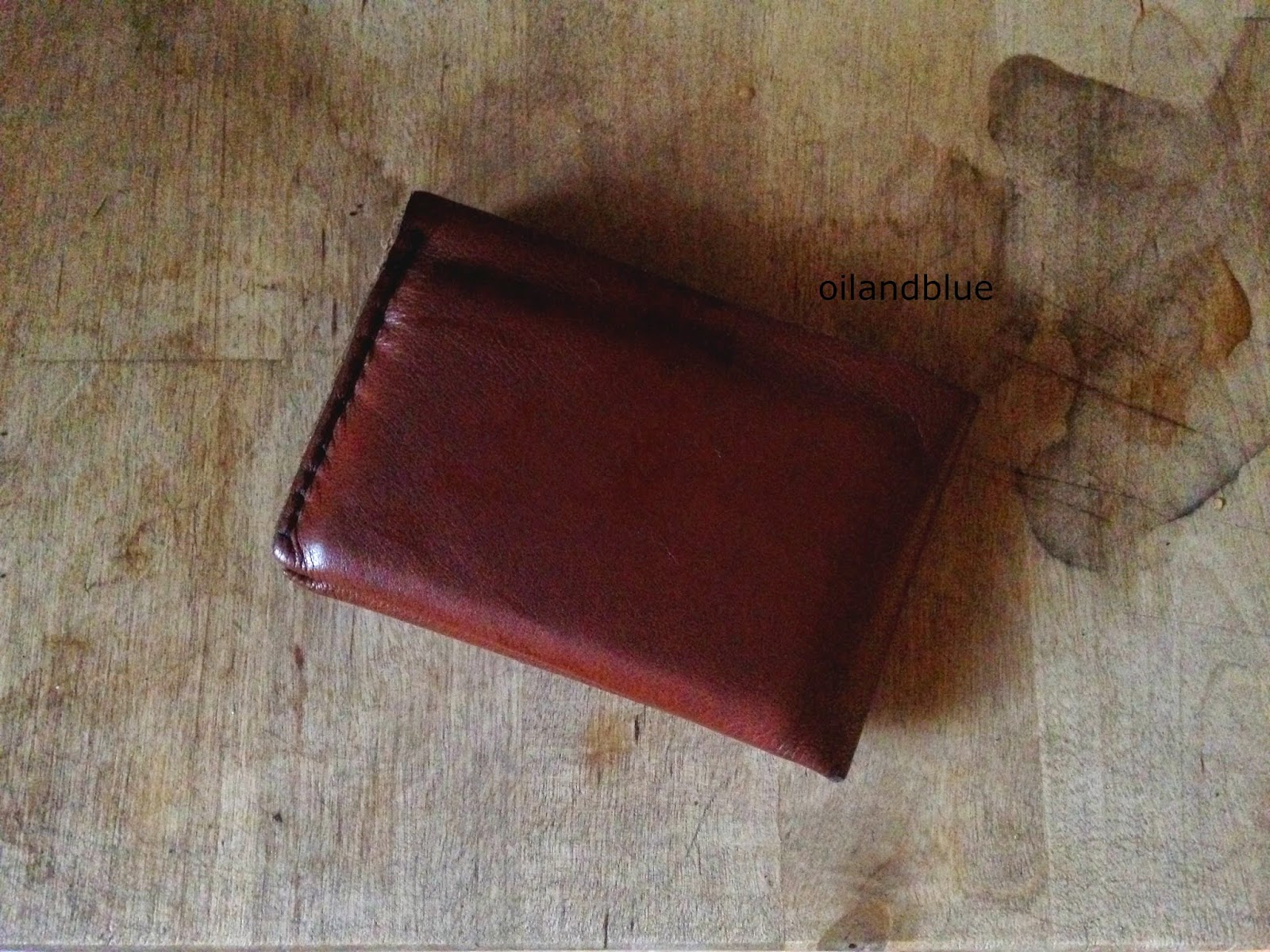 Oil And Blue DIY LEATHER WALLET PATTERN TEMPLATE - Leather wallet template
