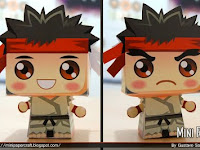 Mini Ryu papercraft fan art