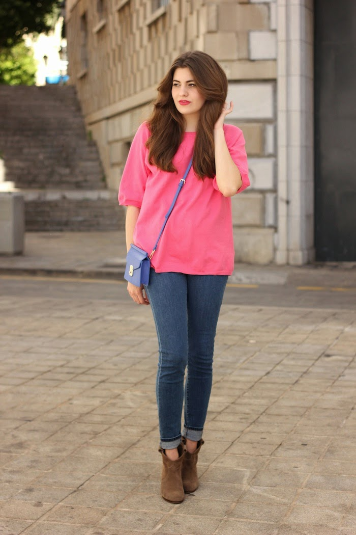 jersey_rosa_bolso_azul_zara_ss14_primavera_verano_2014_minibolso_bag_blue_pink_sweater_jeans_look_outfit_angicupcakes06