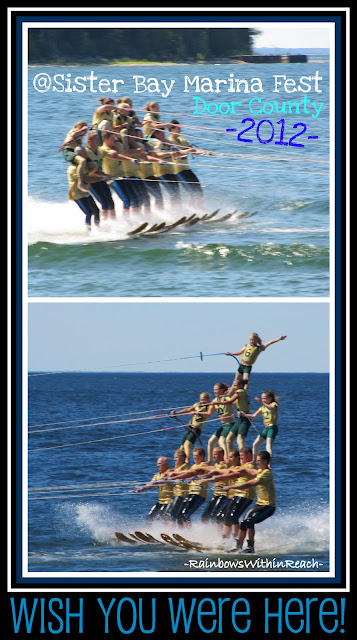 photo of: Water Ski Pyramid for Small Town Festival in Door County, WI