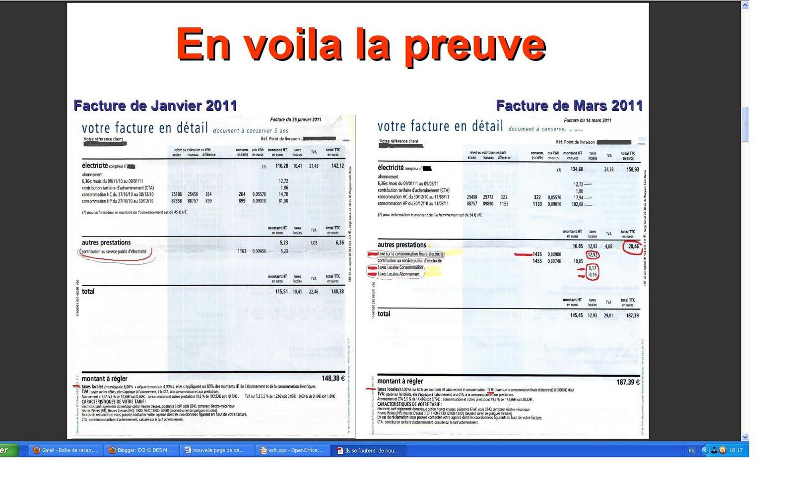 Echo des montagnes christine lagarde edf constitution proglio franc maco - Comprendre sa facture edf ...