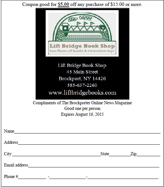 The Brockporter/Lift Bridge coupon