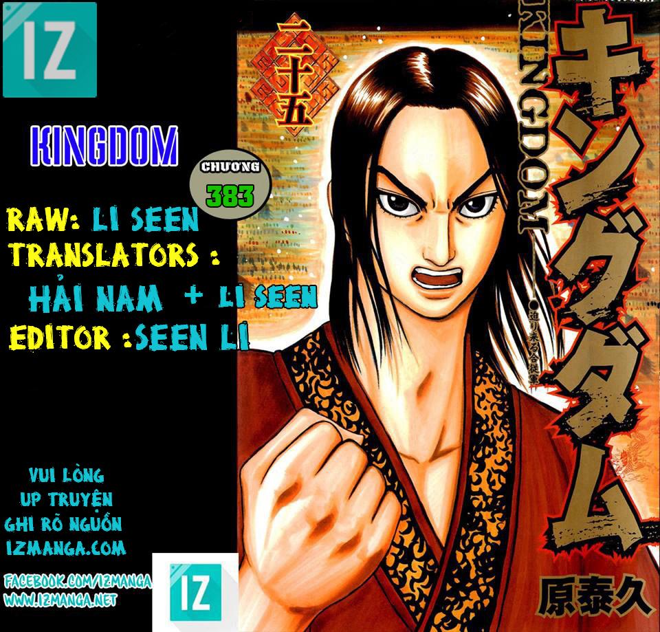 Kingdom - Vương Giả Thiên Hạ Chapter 383 page 1 - IZTruyenTranh.com