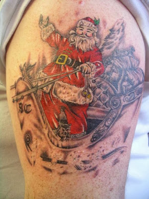 Christmas Santa Tattoo
