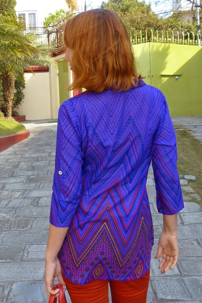 Back view of the printed shirt from Global Desi
