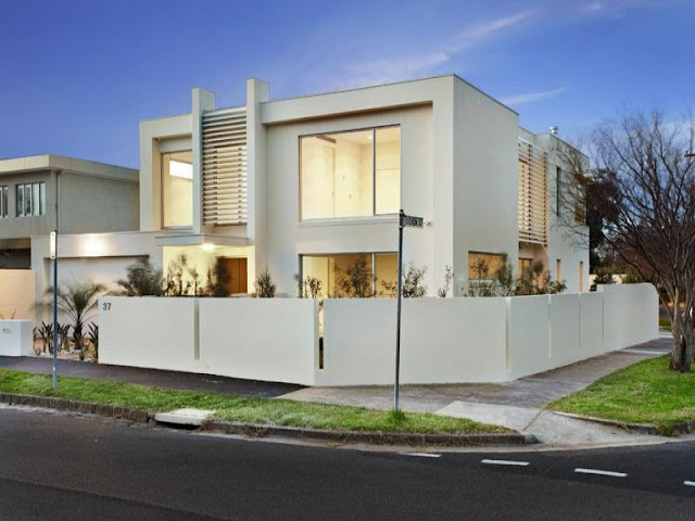 World of architecture modern minimalist residence in for Minimalist house designs australia