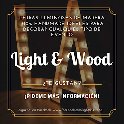 Letras Light & Wood