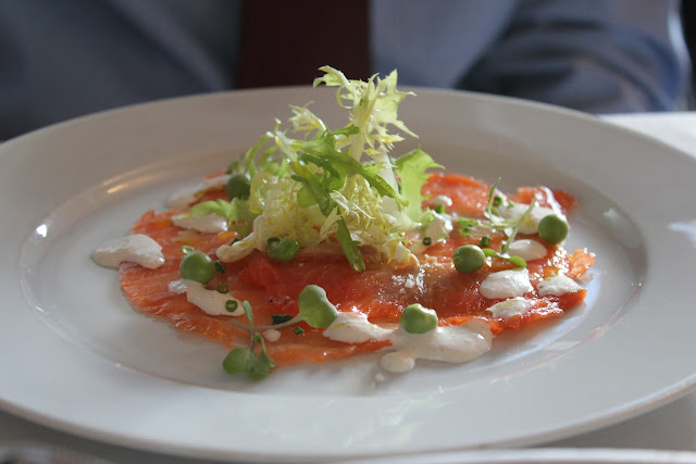Evergreen-cured gravlax at Beacon Hill Bistro, Boston, Mass.