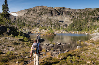 Hiking to Mount Regan, this little tarn