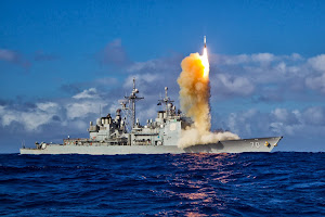 INTERCEPTOR MISSILE LAUNCH FROM USS LAKE ERIE