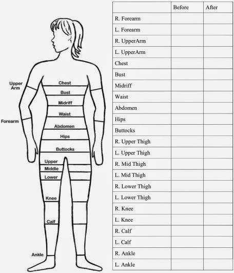 SIX MONTH BODY MEASUREMENT TRACKING CHART Date Started: _____ What to Measure Week 1 Week 2 Week 3 Week 4 Week 5 Week 6 Week 7 Week 8 Weight Chest Waist R Arm L Arm R Thigh L Thigh Hip What to Measure Week 9 Week 10 Week 11 Week 12 .