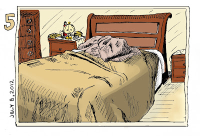 EDM 5 - Draw your bed. Pen and Ink with Digital colour by Ana Tirolese ©2012