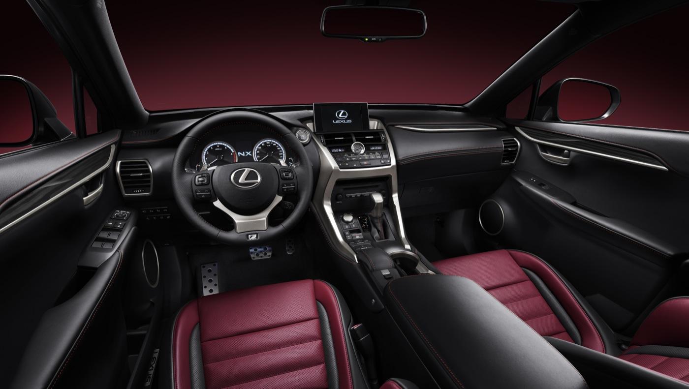2015 Lexus NX interior red