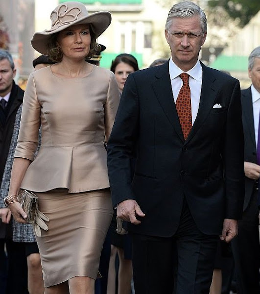 Queen Mathilde of Belgium, King Philippe of Belgium, Poland's President Andrzej Duda and Poland's First Lady Agata Kornhauser-Duda