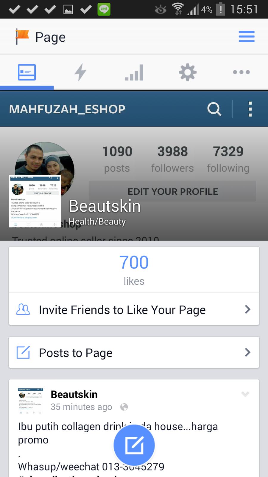 like page di fb
