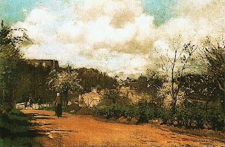 Камиль Писсарро. Вид из Лувесьена. Ок. 1869.