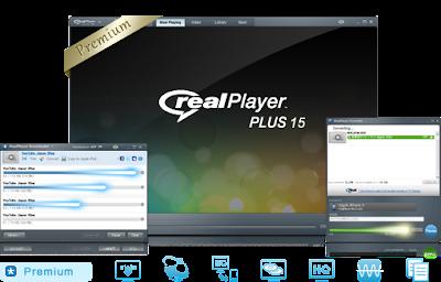 Real Player comprend le dernier lecteur multimédia, un Jukebox musical et un navigateur intégré permettant d'écouter les formats multimédia