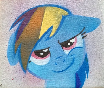 Made my first colored Rainbow Dash stencil for a secret Santa thing on reddit.