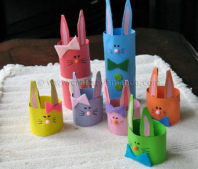 Coniglietti Pasquali Portauova con il Riciclo Creativo