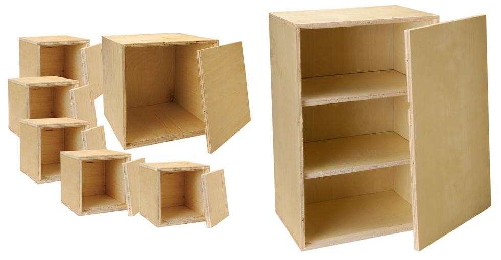 Charmant Knock Down Birch Speaker Cabinets