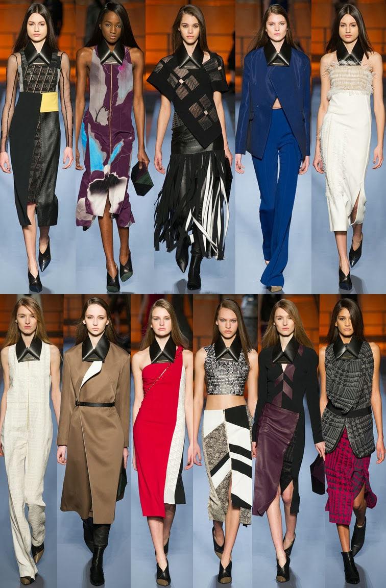Roland Mouret fall winter 2014 runway collection, PFW, Paris fashion week, FW14, AW14