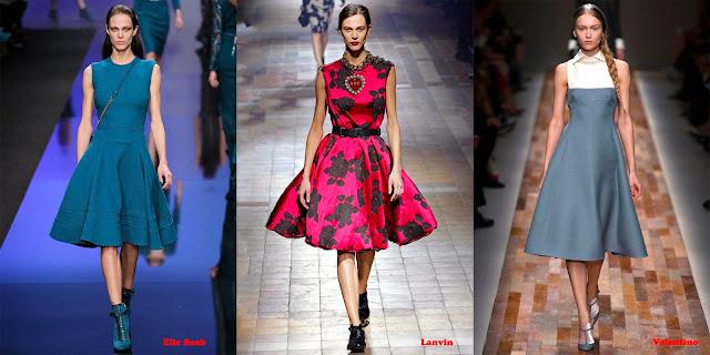 Tendencias mujer otoño/invierno 2013/14 vestido Lady: Eliee Saab, Lanvin y Valentino