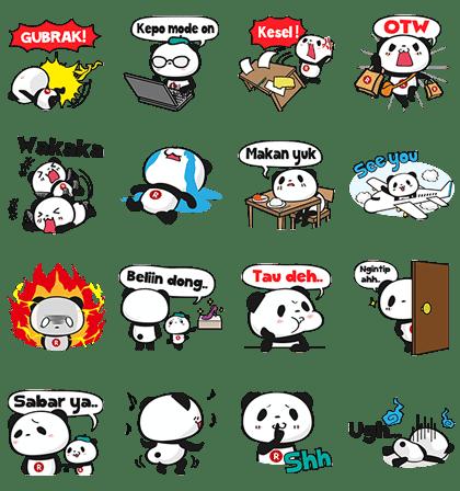 Happy Panda 2nd Season stickers