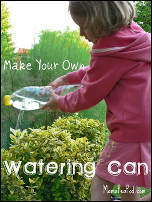 make your own watering can DIY child watering garden