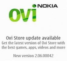 Nokia Ovi Store Update : version 2.06.00042