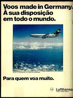 Anúncio Lufthansa - 1975. 1975. propaganda década de 70. Oswaldo Hernandez. anos 70. Reclame anos 70