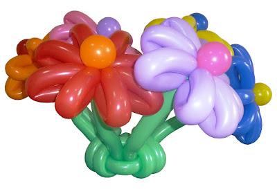 клумба цветов ромашки из воздушных шаров - шаров для моделирования ШДМ260