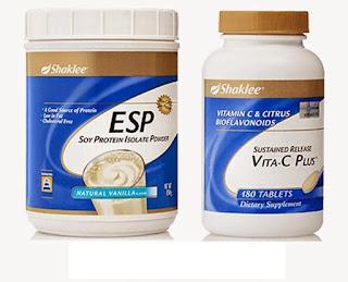 ESP; Vita C Shaklee; Set kulit cantik; jerawat; jeragat