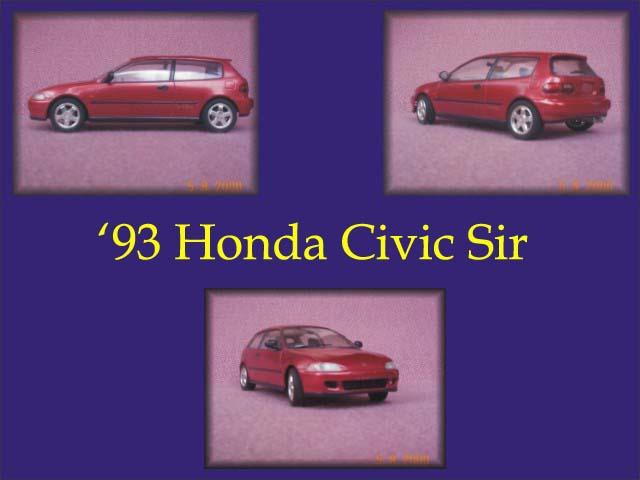 1993 honda civic sir hasegawa plastic model kit 1 24