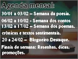 Agenda mensal: