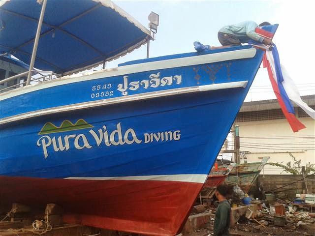 Pura Vida Koh Tao barco