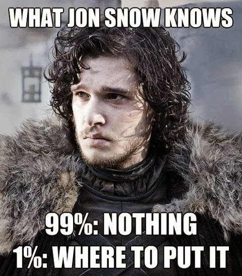 jon snow game of thrones memes