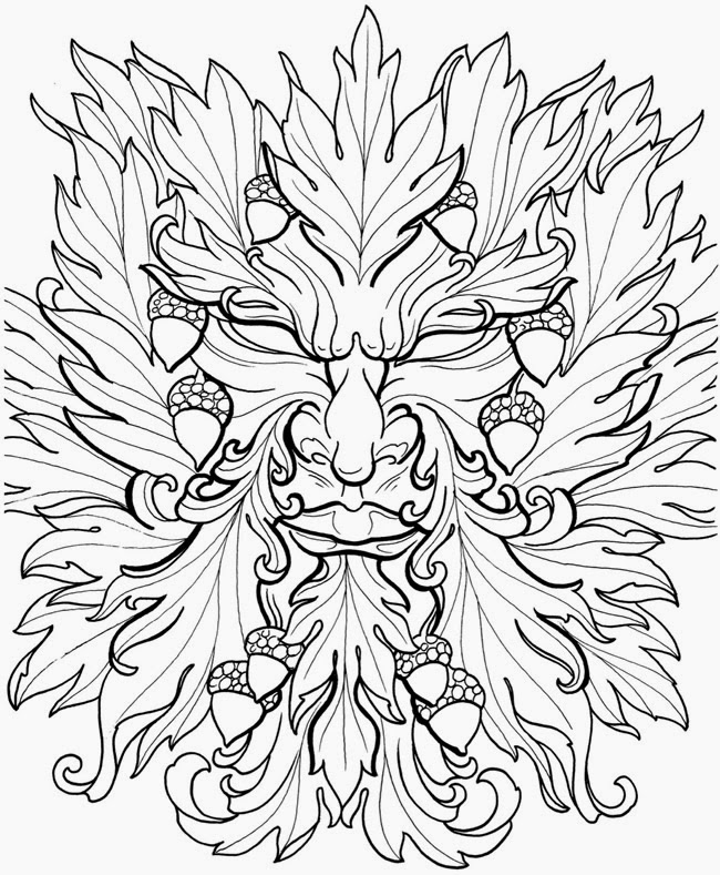 green man coloring pages - photo#4