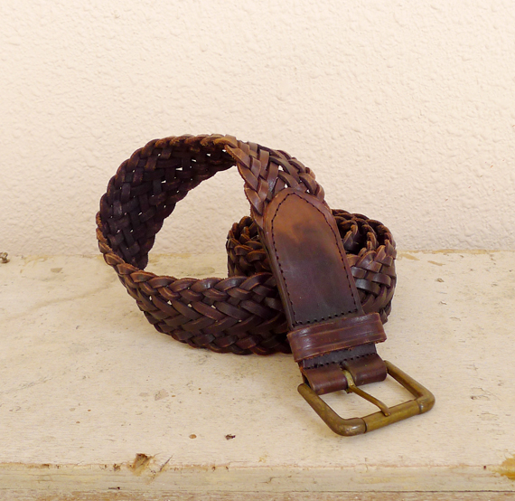 vintage braided belt patina